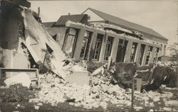 Destroyed Building after Earthquake
