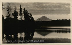 Mt. St. Helens From Silver Lake Postcard