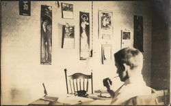 Student Working at Table, University of Missouri, circa 1914