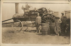 Two Farmers and Steam Tractor