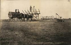 Hale Baling Equipment in Field
