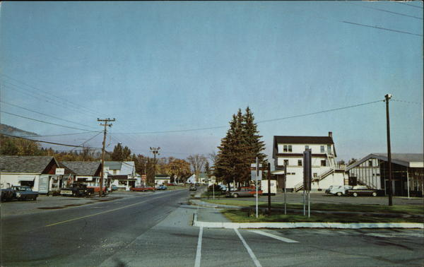 Franconia Center and Main Street New Hampshire