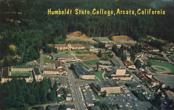 Aerial View of Humboldt State College Arcata California