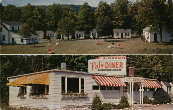 Pal's Motel and Diner Milford Pennsylvania G. E. Scheller