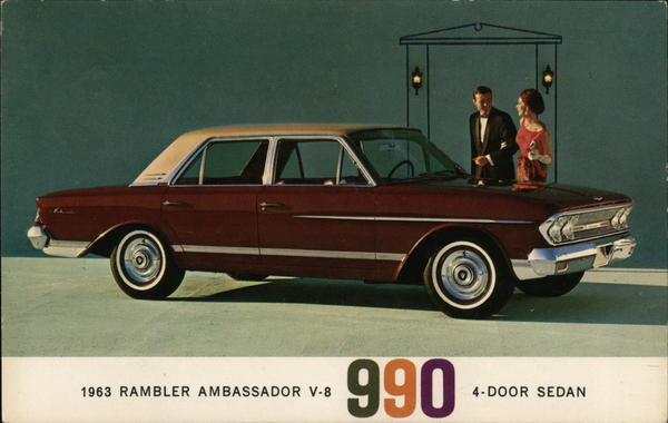 1963 Rambler Ambassador V-8 990 4-Door Sedan Cars