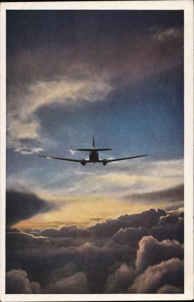 Airliner Flying Over the Clouds E. D. McGlone Aircraft