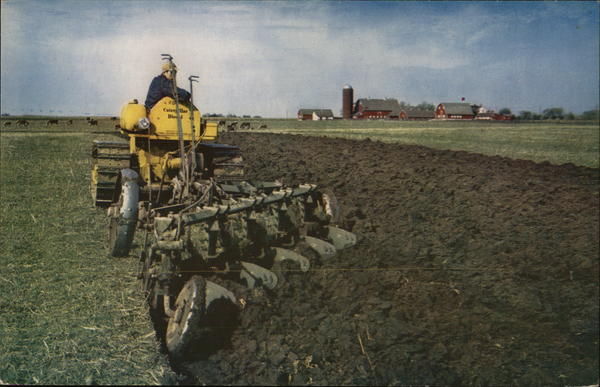 A Caterpillar Track-Type Tractor Farming