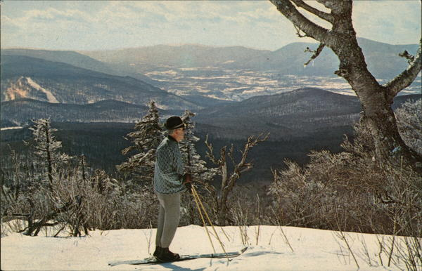 Solitary Skier, Bromley Mountain Peru Vermont Frank L. Forward