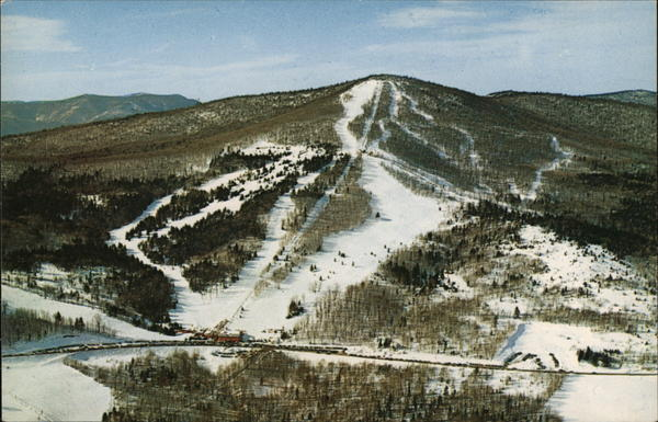 Aerial View of Big Bromley Ski Area Manchester Vermont