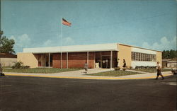 The New Post Office at Eustis' Parking-center Square Postcard