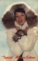 """Typical"" Alaskan Eskimo Beauty Postcard"