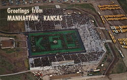 Band Day - Kansas State University Postcard