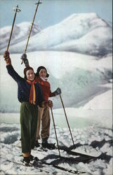 Two Skiers on Mountain