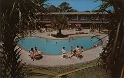 Swimming Pool, William Hilton Inn Postcard