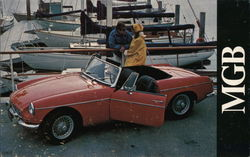 Red MG at Boat Docks
