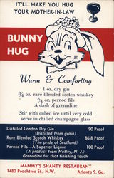 Bunny Hug Cocktail, Mammy's Shanty Restaurant Postcard
