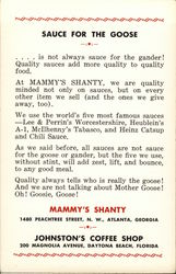 Sauce for the Goose - Mammy's Shanty, Johnston's Coffee Shop
