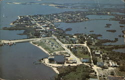Aerial View Showing Main Street, State Park and Cedar Key Sea Food Industries