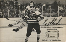 Hockey Players Advertising Eddie Shack's Golf Course