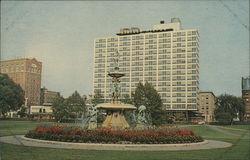 Corning Fountain, Bushnell Park, Statler Hilton Hotel