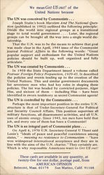 Anti-Communist Opinion on United Nations by American Opinion