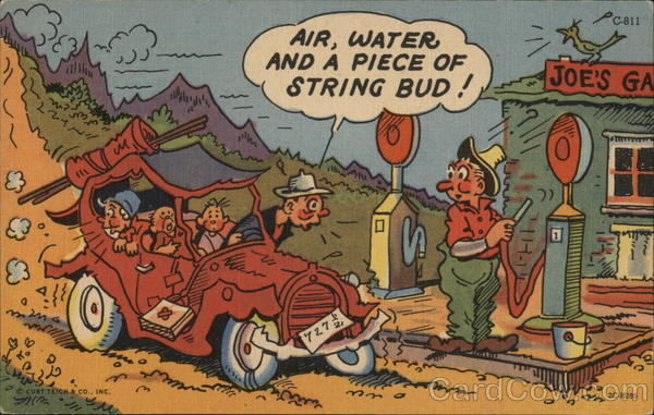 Air, Water and a Piece of String Bud! Comic, Funny
