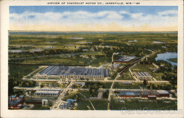 Airview of Chevrolet Motor Co. Janesville Wisconsin