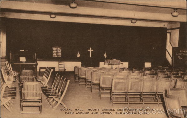 Social Hall, Mount Carmel Methodist Church, Park Avenue and Nedro Philadelphia Pennsylvania