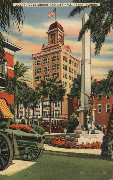 Court House Square and City Hall Tampa Florida