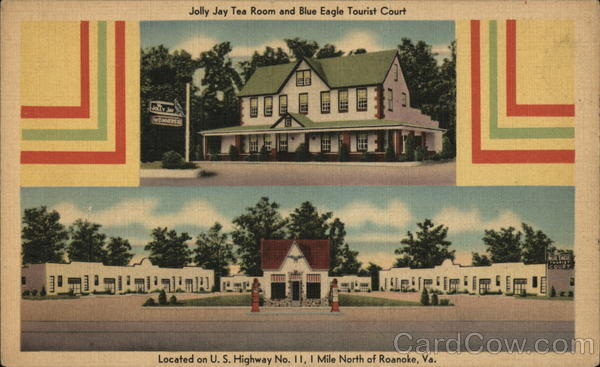 Jolly Jay Tea Room and Blue Eagle Tourist Court Roanoke Virginia
