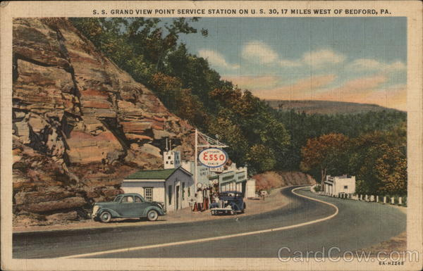 S.S. Grand View Point Service Station Bedford Pennsylvania