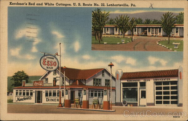 Kerchner's Red and White Cottages, Esso Lenhartsville Pennsylvania