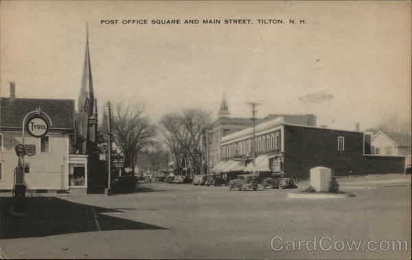 Post Office Square and Main Street Tilton New Hampshire