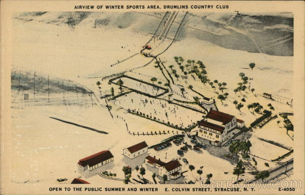 Airview of Winter Sports Area, Drumlins Country Club Syracuse New York