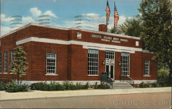 Street View of US Post Office Watseka Illinois