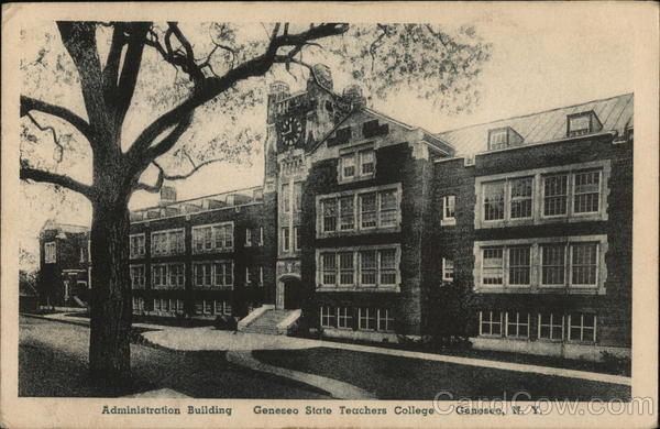 Administration Building at Geneseo State Teachers College New York
