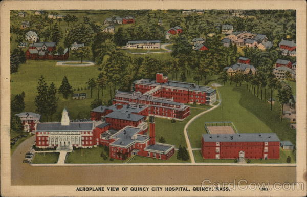 Aeroplane View of Quincy City Hospital Massachusetts