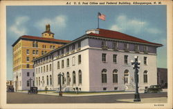 Albuquerque Post Office and Federal Building Postcard