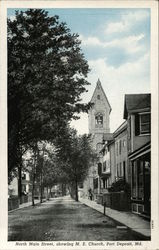North Main Street, Showing M.E. Church