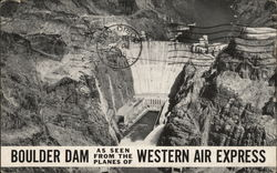 Aerial View of the Boulder Dam