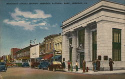 Merchant Street Showing National Bank Postcard