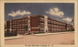 The Senior High School at Ambridge, Pa Postcard