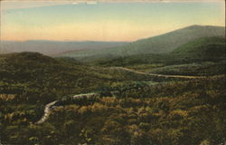 Blue Ridge and Adirondack Mountains from Deer Leap Postcard