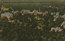 Airplane View of Randolph-Macon Women's College Campus