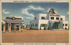 Brown Derby Cottages & Grill Postcard