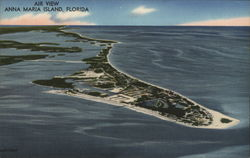 Air View of Anna Maria Island Postcard
