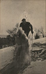 John Wikoff Doing a Galundesprung in the Adirondacks