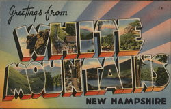 Greetings from the White Mountains Postcard