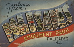 Greetings From Palisades Amusement Park Postcard