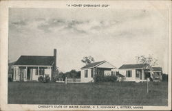 Chesley's State of Maine Cabins Postcard